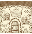 house of mushrooms vector image