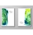 Watercolor design banners vector image