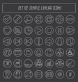simple linear icons vector image