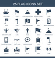 25 flag icons vector image vector image