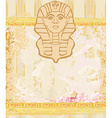 abstract grunge frame - Great Sphinx of Giza vector image vector image