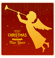 angel card square 2b vector image vector image