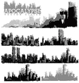 Apocaplyse cities vector image