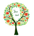 Apple tree with frame vector image