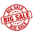 big sale red grunge round vintage rubber stamp vector image