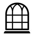 big window frame icon simple black style vector image vector image