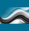 blue and black fluid wave sport background vector image vector image