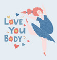 body positive womens vector image