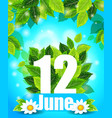 bright spring background with green leaves vector image vector image