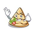 call me crepe mascot cartoon style vector image vector image