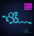 cannabidiol formula neon icon vector image