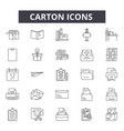 carton line icons for web and mobile design vector image