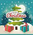 Christmas tree pine card