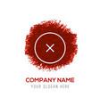 close cancel or delete icon - red watercolor vector image