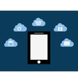 Cloud computing techonlogy vector image