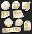 collection of gold and silver banners templates vector image vector image