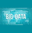 creative of big data analysis vector image
