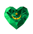 crystal gem jewelry Mauritanian heart with the vector image vector image