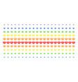 diamond shape halftone spectrum array vector image vector image