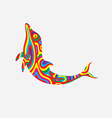 Dolphin colorfully vector image vector image