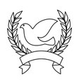 dove of peace with wrench vector image