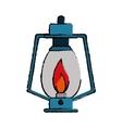 drawing lamp kerosene old lantern camping vector image