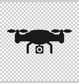 drone quadrocopter icon in transparent style vector image