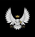 eagle hawk bird prey motorcycle club logo icon vector image vector image