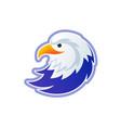 eagle logo template - usa bald head vector image vector image