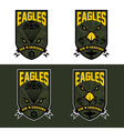eagles air warriors army shields set design vector image