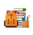 educational or study stationery stuff vector image