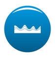 equalizer sound effect icon blue vector image vector image