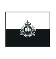 flag of San Marino monochrome on white background vector image vector image