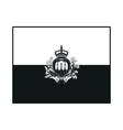 flag san marino monochrome on white background vector image