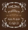 flora calligraphy set vector image vector image