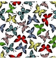 Flying butterflies insects seamless pattern vector image vector image