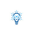 geek idea logo icon design vector image