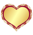 Gold gradient valentine isolated frame vector image vector image