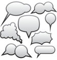 Grey speech bubbles vector image