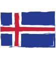 grunge iceland flag or banner vector image vector image