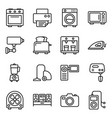 hardware devices line pack vector image vector image