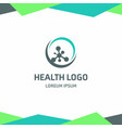 health logo design with typography vector image