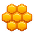 honey comb icon cartoon style vector image