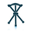 icon fishing folding chair vector image vector image