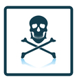 Icon of poison from skill and bones vector image vector image