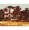 Indian landscape digital graphic artwork in Goa vector image vector image