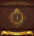 Letter D Luxury Logo template flourishes vector image vector image