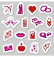 love stickers vector image vector image