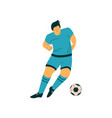 male soccer player with ball footballer character vector image vector image