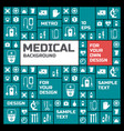 medical symbols background vector image vector image